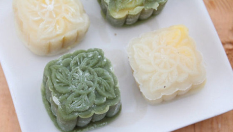 抹茶双色冰皮月饼制作方法与配方