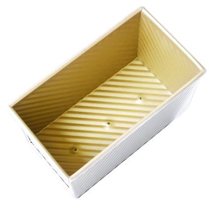 三能450g金色波纹不粘面包吐司模具